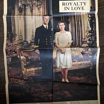 Minneapolis Sunday Tribune Royal Wedding - Paper