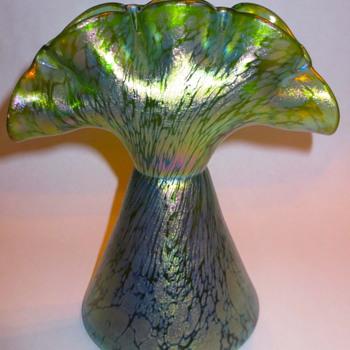 Loetz Creta Papillon Tulip Vase c.1900 - Art Glass