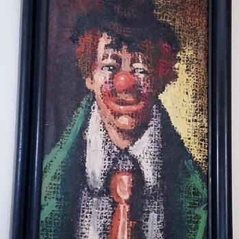 """Painting of a Clown """"Emmett Kelley"""" - Fine Art"""