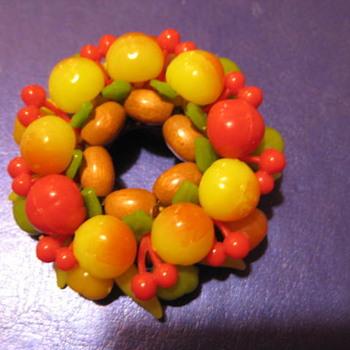 W. GERMANY BROOCH   Fruit Cluster   - Costume Jewelry