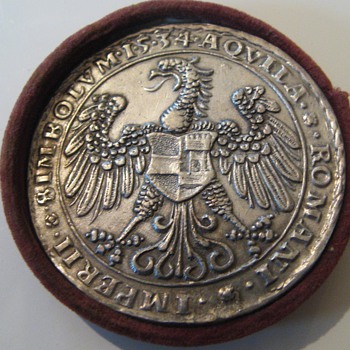 Austrian Imperator Ferdinand I. 1519-1564 silvered Medal - World Coins