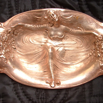 My favorite heirloom - Woman on Small Tray - Art Nouveau