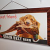1939 Grain Belt dimensional cardboard w/ string hanger