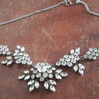 1930s rhinestone/paste necklace - Art Deco