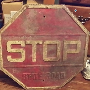 State Road stop sign. - Signs