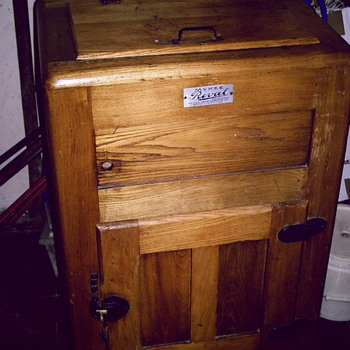 Antique Wooden Ice Box - Kitchen