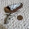 Minature cap pistol,, cast pot metal