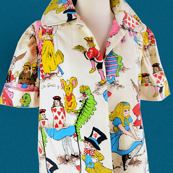 1960s-1970s POP ART to wear ALICE IN WONDERLAND Jacket - Womens Clothing