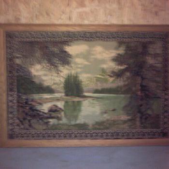 velvet like rug in frame - Rugs and Textiles