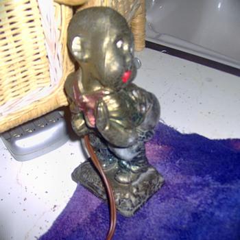 Antique Pot Metal Little Black Boy(African America) Cigarette Lighter? Hot Cha