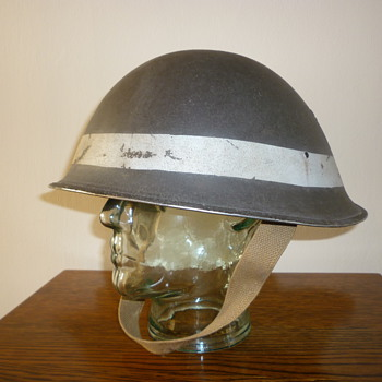 British WWII D-Day Beach Group steel helmet
