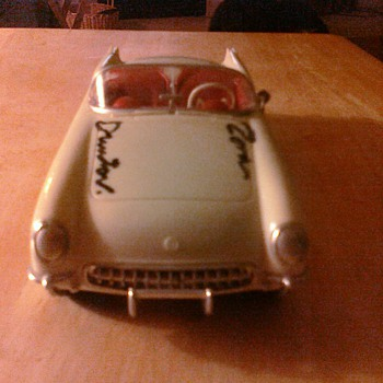 Zora Arkus Duntov signed this Corvette promo... - Model Cars