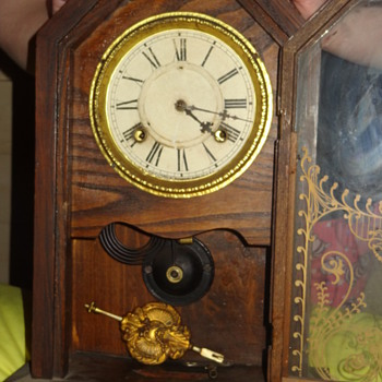 old wooden clock - Clocks