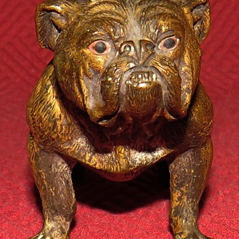 Antique Vienna, Austria Bronze Bulldog - Animals