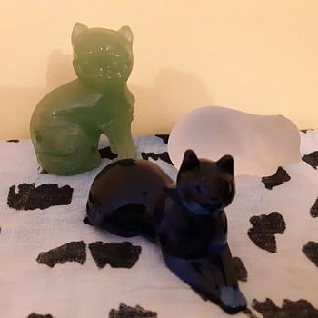 Franklin Mint cats  - Animals