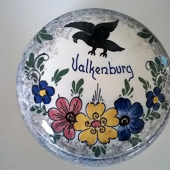 1940s (?) Gouda Porcelain Covered Trinket Dish Valkenburg (Limburg, Netherlands) - Pottery