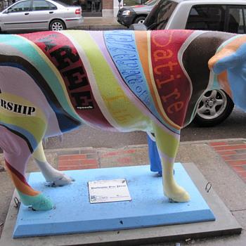 Free Speech Cow in Burlington VT - Folk Art