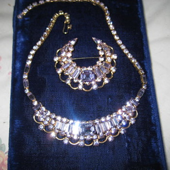 KRAMER of New York  Alexandrite Necklace and Brooch  - Costume Jewelry