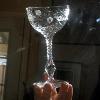 Mystery Elegant Glass Pattern Champagne Glasses - Glassware