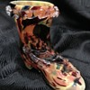 Victorian Welz cased spatter glass boot