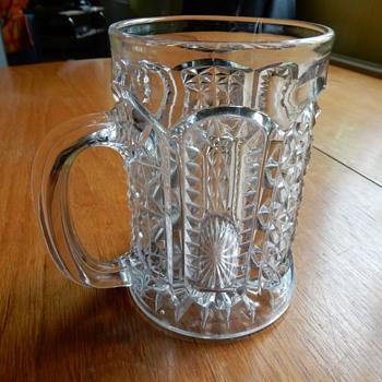 Sowerby Glass Tankard. - Breweriana