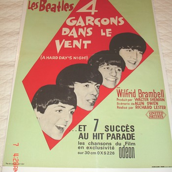 "The Beatles, ""A Hard Day's Night""  in French ""4 Guys in the Wind"" - Posters and Prints"