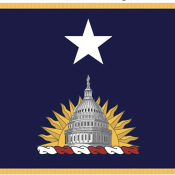 Flag for non-federally recognized District of Columbia National Guard Brigadier - Military and Wartime