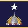 Flag for non-federally recognized District of Columbia National Guard Brigadier