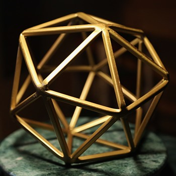 Large Solid Metal [brass?] Bucky Ball - Fine Art