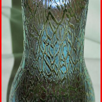 LOETZ  CRETE  SILBERIRIS  MIMOSA VASE - Art Glass