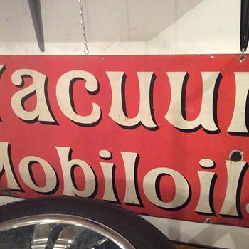 Vacuum Mobil oil sign - Petroliana