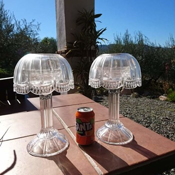 Nancy heavy crystal candle lamps - Glassware