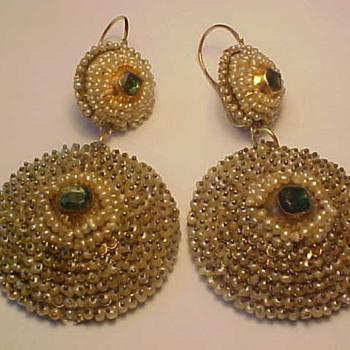 Georgian Seed Pearl Earrings - Restored