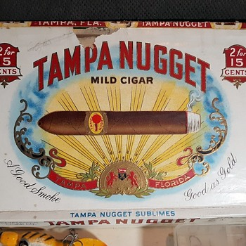 Vintage Tampa Nugget Cigar Box Full of Fishing Lures - Fishing