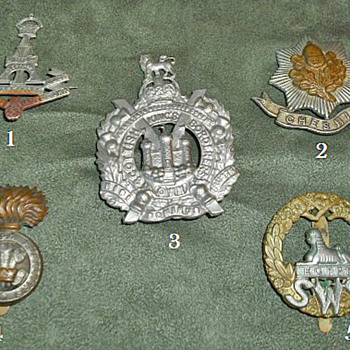 Badges for all 1914 British Line Infantry Regiments, Part 3 - Military and Wartime