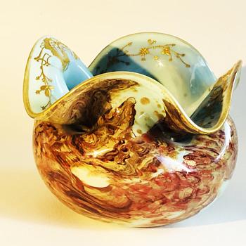 Ernest-Baptiste Leveille glass vase/bowl C1890 - Art Glass