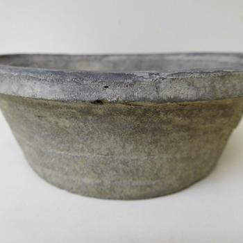 Unglazed Crude  Black Pot:  Possibly Bonsai.  - Pottery