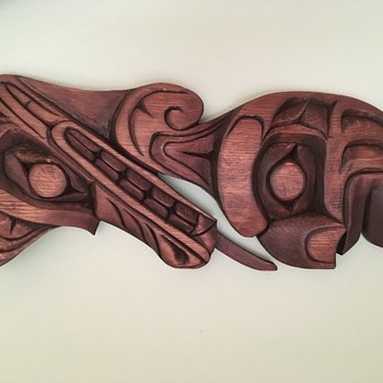 Kwakwaka'wakw (Squamish) Wood Carving Wall Panels - Native American