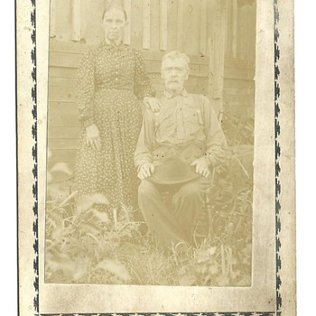 Cabinet Card of Amaziah C. Mitchell & Catherine (Alvis) Mitchell - Photographs