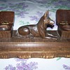 Wood Dog Inkwell
