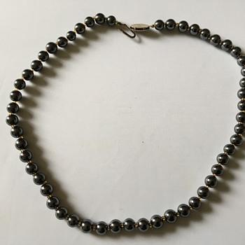 Vintage hematite necklace  - Fine Jewelry