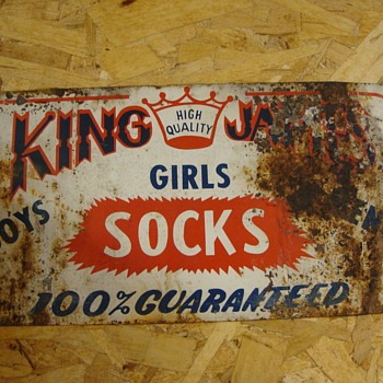 King James Socks Sign........