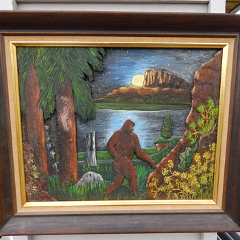 Sasquatch 3D Carving/Painting - This is so cool - Folk Art