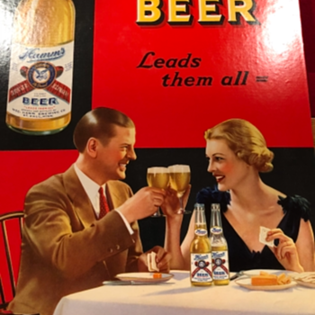 Late 1930s Hamms signs - Breweriana