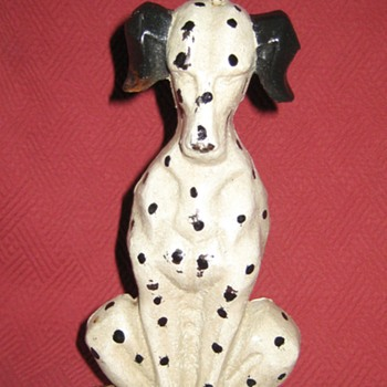 Vintage Cast Iron Dalmatian Doorstop - Animals