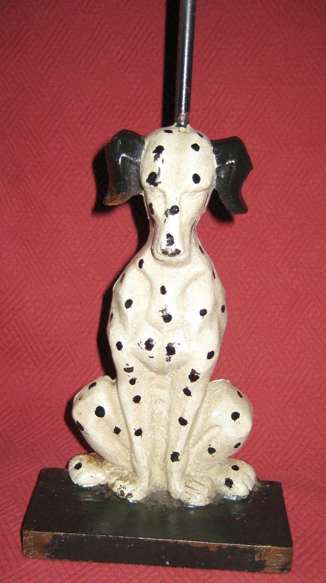Vintage Cast Iron Dalmatian Doorstop Collectors Weekly
