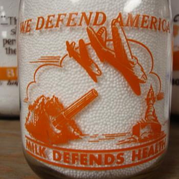 REDONDO INDEPENDENT DAIRY QUART WAR SLOGAN - Bottles