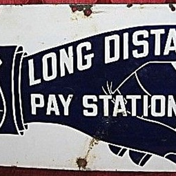 Long Distance Pay Station Sign