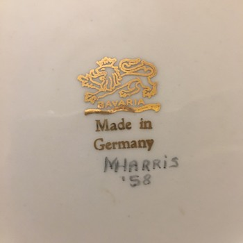 Bavarian Plate Made in Germany - Pottery