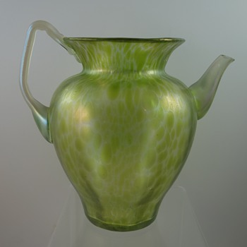 Loetz Diana Cisele pitcher, PN II-237, ca. 1900 - Art Glass